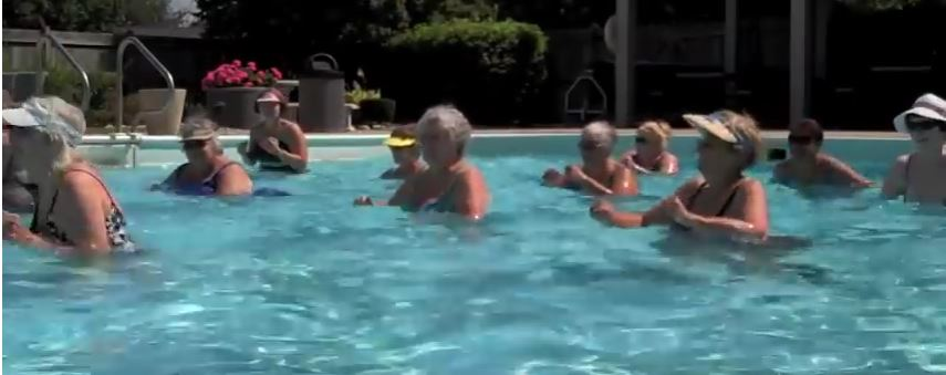 water aerobics workouts for seniors